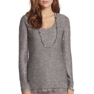 Gorgeous Chico's Sequin and Lace Sweater SZ 2/L